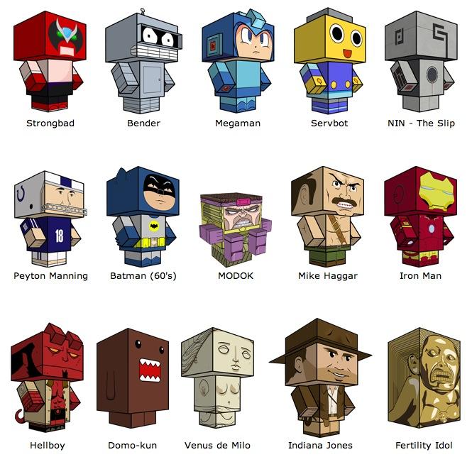 Popolare Cubeecraft: eroi di carta da ritagliare!   Jacopo Farina LH33