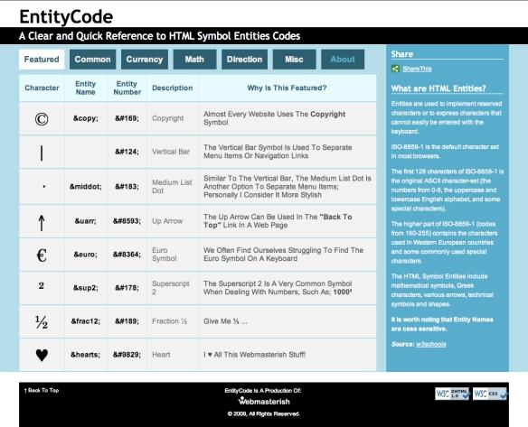Entity Code