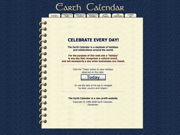 Earth Calendar (20090605)