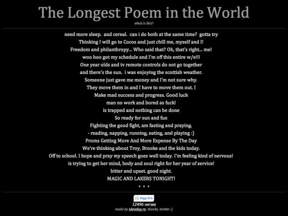 The Longest Poem in the World (20090604)
