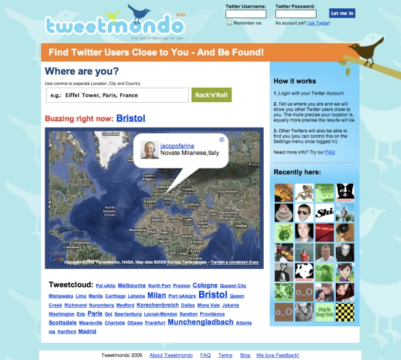 Tweetmondo - Find Twitter Users Near You (20090626)