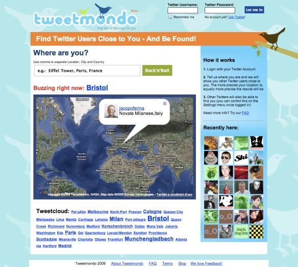 Tweetmondo - Find Twitter Users Near You (20090626)