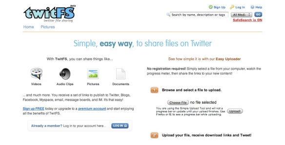 TwitFS - Share files on Twitter (20090626)