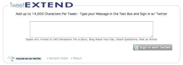 tweet extend