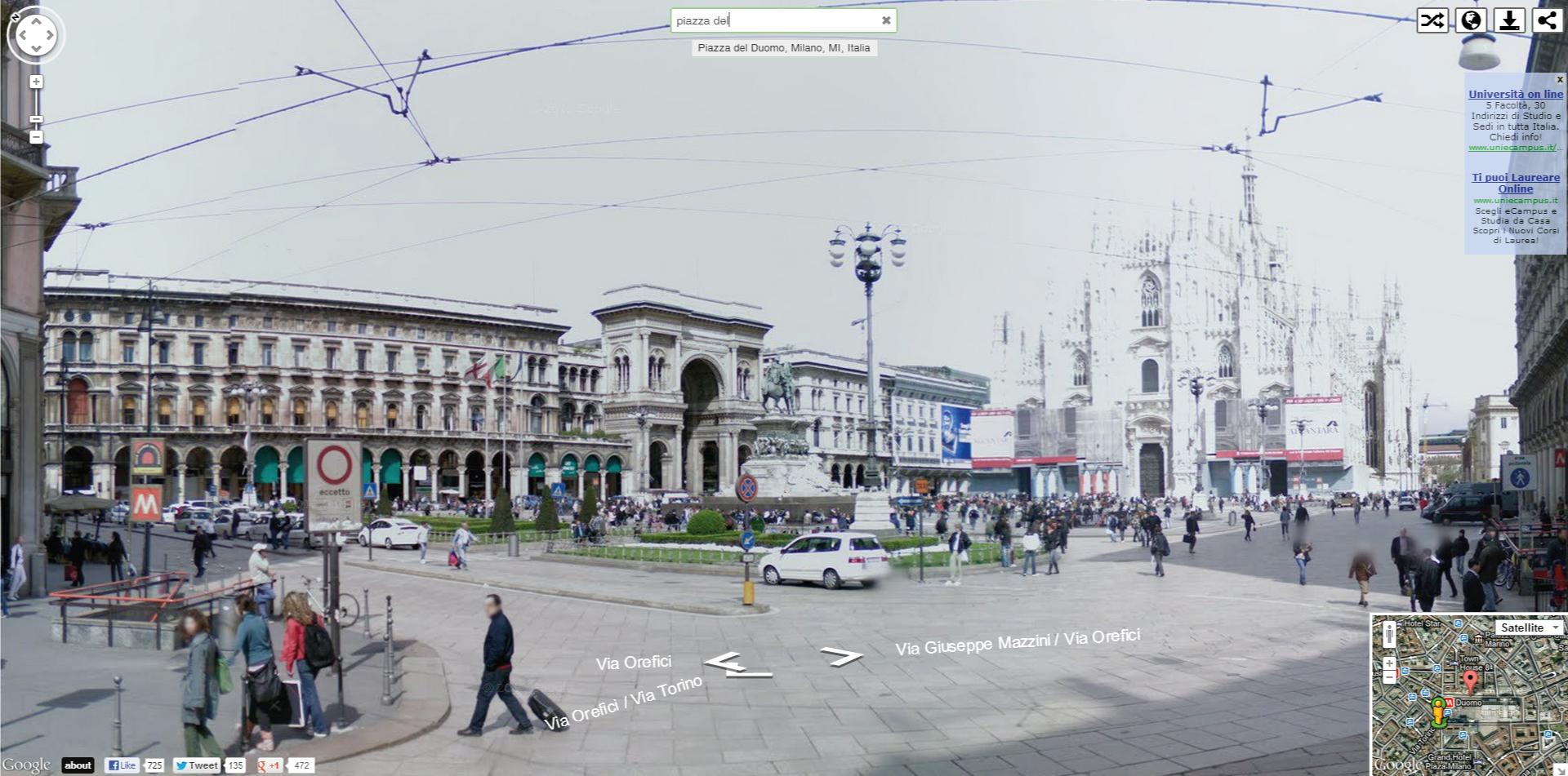 instant google street view scoprire in pochi secondi le panoramiche di street view nel mondo. Black Bedroom Furniture Sets. Home Design Ideas